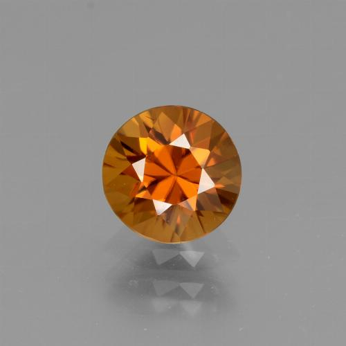 1.3ct Diamond-Cut Medium Orange Zircon Gem (ID: 437068)