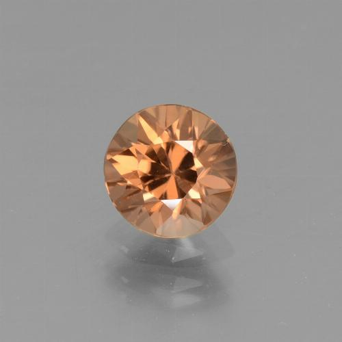 1.3ct Diamond-Cut Reddish Orange Zircon Gem (ID: 437069)