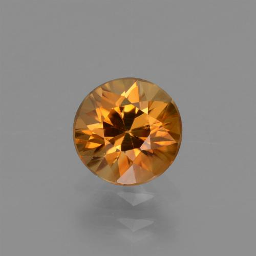 1.2ct Diamond-Cut Deep Orange Zircon Gem (ID: 437245)