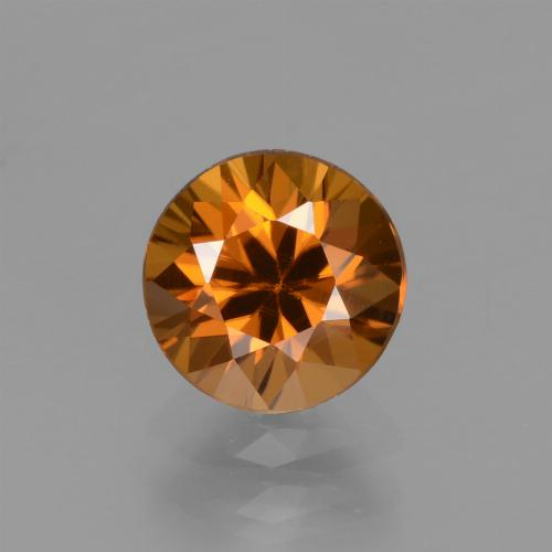 1.8ct Diamond-Cut Medium-Dark Orange Zircon Gem (ID: 437246)