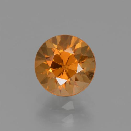 1.7ct Diamond-Cut Deep Orange Zircon Gem (ID: 437250)