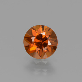 1.1ct Diamond-Cut Amber Orange Zircon Gem (ID: 437251)