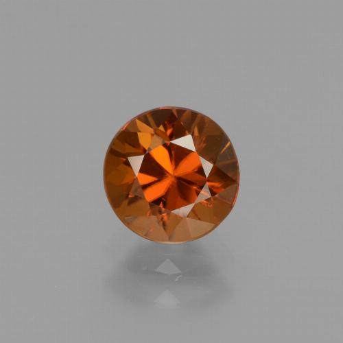 1.6ct Diamond-Cut Deep Orange Zircon Gem (ID: 437374)