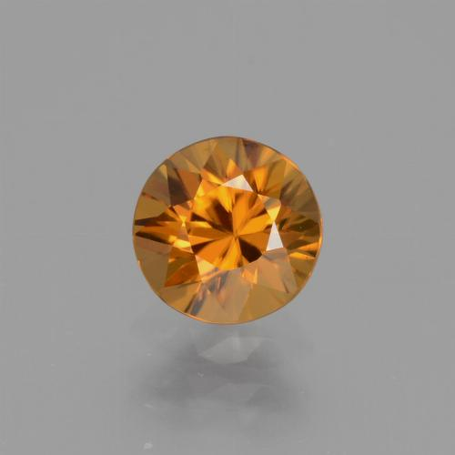 1.1ct Diamond-Cut Orange Brown Zircon Gem (ID: 437378)