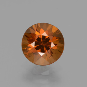 2ct Diamond-Cut Deep Orange Zircon Gem (ID: 437379)