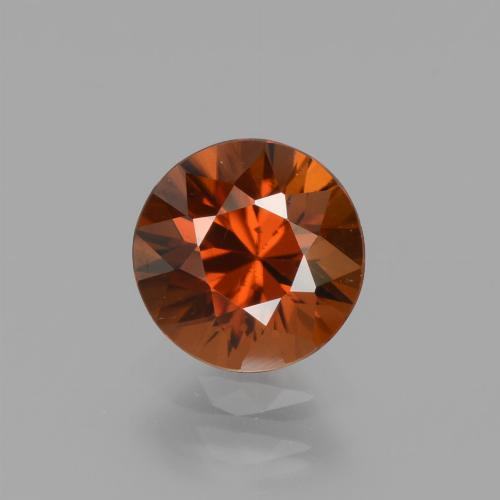 1.6ct Diamond-Cut Reddish Orange Zircon Gem (ID: 437380)