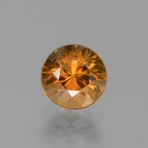 1.7ct Diamond-Cut Brownish Orange Zircon Gem (ID: 437382)