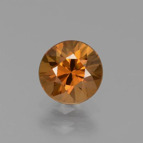 1.4ct Diamond-Cut Earth Orange Zircon Gem (ID: 437383)