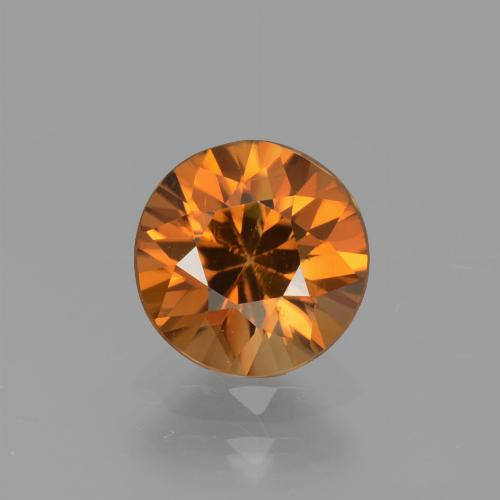1.6ct Diamond-Cut Brownish Orange Zircon Gem (ID: 437384)