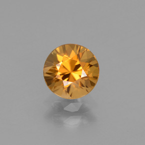 Golden-Brown Zircon Gem - 1.3ct Diamond-Cut (ID: 437497)