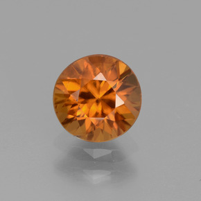 1.3ct Diamond-Cut Yellowish Orange Zircon Gem (ID: 437499)