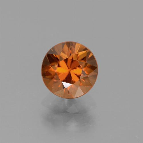 1.6ct Diamond-Cut Deep Orange Zircon Gem (ID: 437504)