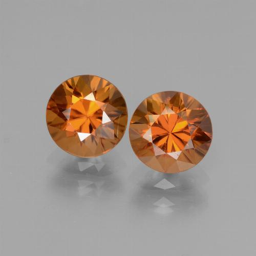 1.6ct Diamond-Cut Yellowish Orange Zircon Gem (ID: 437541)