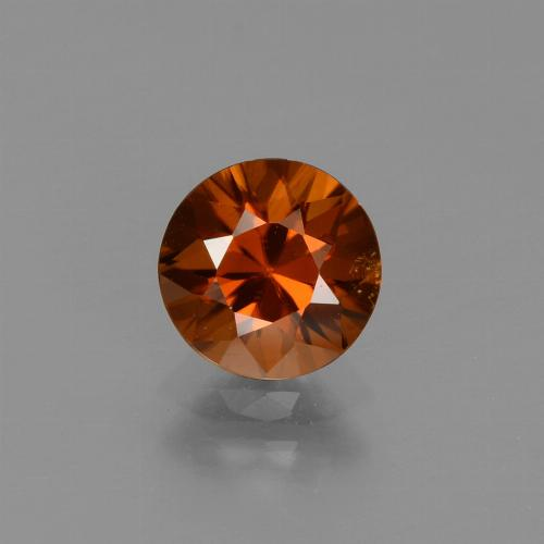 1.5ct Diamond-Cut Reddish Orange Zircon Gem (ID: 437617)