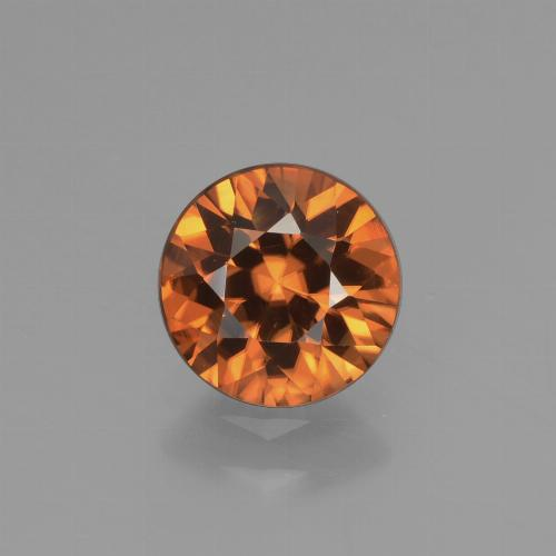 1.5ct Diamond-Cut Medium Orange Zircon Gem (ID: 437642)