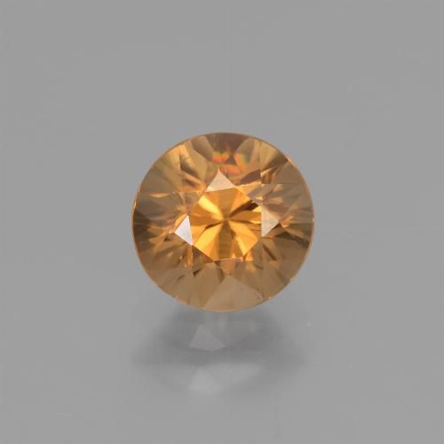 1.3ct Diamond-Cut Rust Orange Zircon Gem (ID: 437647)