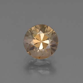 Golden-Peach Circón Gema - 2.3ct Corte Diamante (ID: 438224)