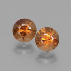 Golden Zircon Gem - 1.4ct Diamond-Cut (ID: 438308)
