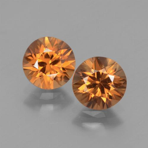 1.5ct Diamond-Cut Medium Orange Zircon Gem (ID: 438310)