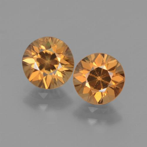 Rust Orange Zircon Gem - 1.5ct Diamond-Cut (ID: 438311)