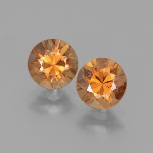 1.3ct Diamond-Cut Medium Orange Zircon Gem (ID: 438312)