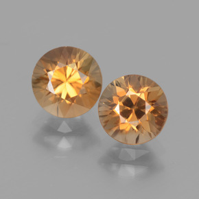 Medium Orange Zircon Gem - 1.6ct Diamond-Cut (ID: 438313)