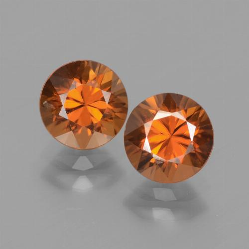 1.7ct Diamond-Cut Medium Orange Zircon Gem (ID: 438314)