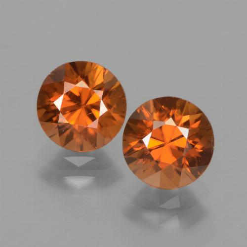1.7ct Diamond-Cut Medium Orange Zircon Gem (ID: 438315)