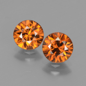 1.5ct Diamond-Cut Medium Orange Zircon Gem (ID: 438316)