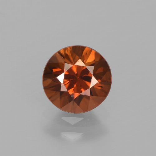 1.5ct Diamond-Cut Deep Orange Zircon Gem (ID: 438357)