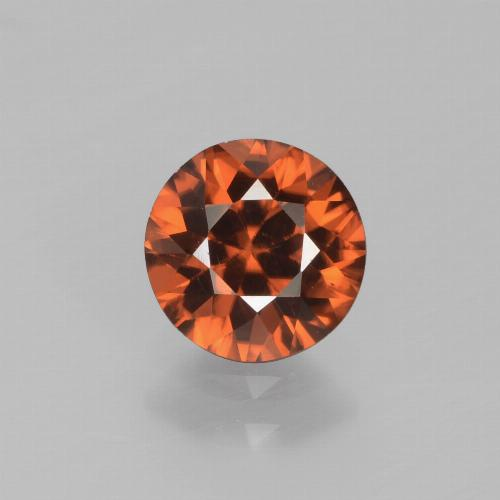 1.5ct Diamond-Cut Deep Orange Zircon Gem (ID: 438358)