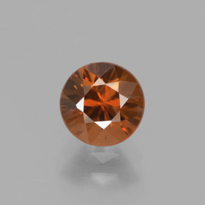 1.3ct Diamond-Cut Reddish Orange Zircon Gem (ID: 438359)