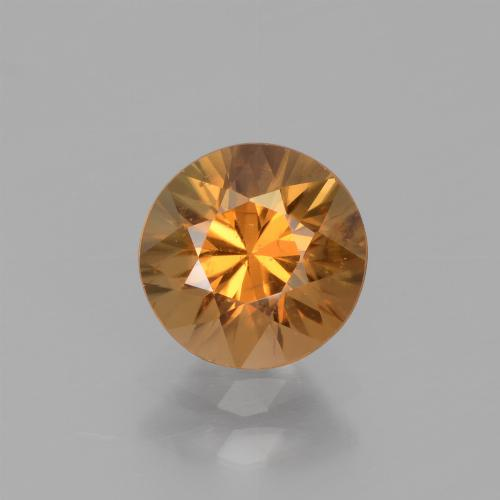 1.7ct Diamond-Cut Medium Orange Zircon Gem (ID: 438360)
