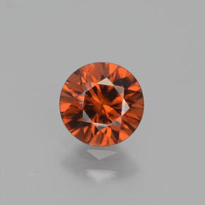 1.1ct Diamond-Cut Amber Orange Zircon Gem (ID: 438361)