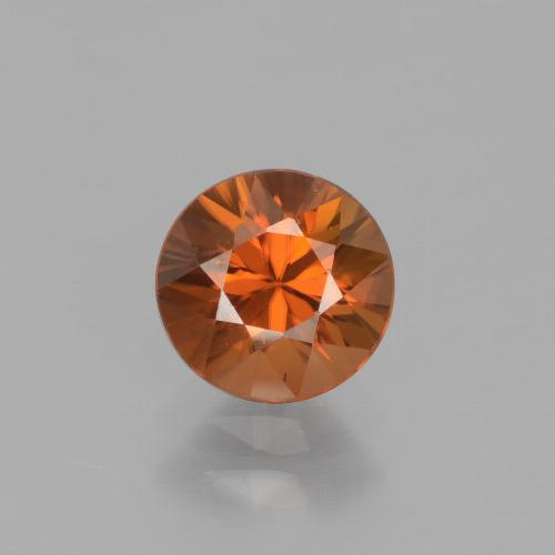 1.4ct Diamond-Cut Deep Orange Zircon Gem (ID: 438362)