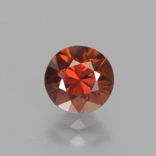 1.7ct Diamond-Cut Reddish Orange Zircon Gem (ID: 438363)