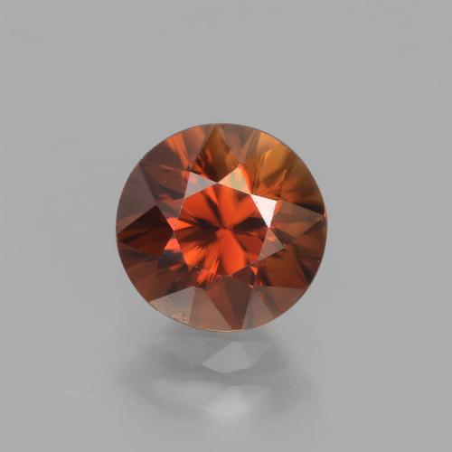 1.7ct Diamond-Cut Amber Orange Zircon Gem (ID: 438365)