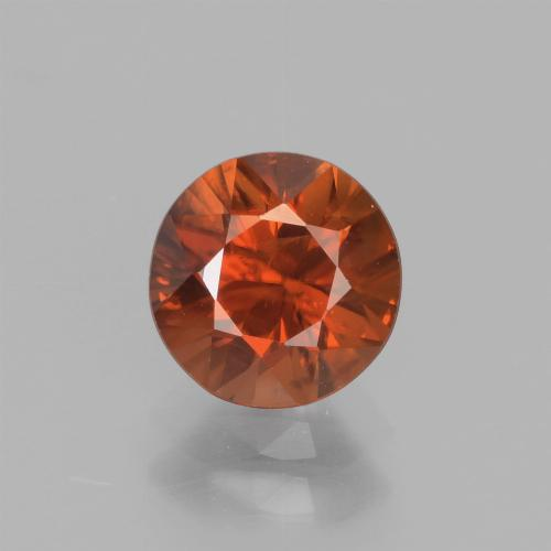 1.7ct Diamond-Cut Dark Orange Zircon Gem (ID: 438366)