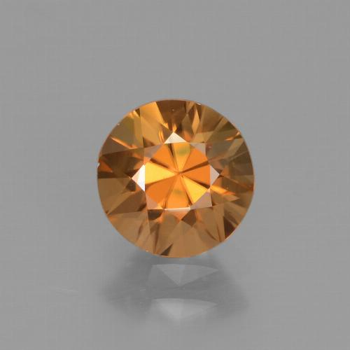 1.6ct Diamond-Cut Medium Orange Zircon Gem (ID: 438367)