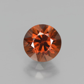 1.6ct Diamond-Cut Deep Orange Zircon Gem (ID: 438368)