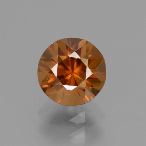 1.7ct Diamond-Cut Deep Orange Zircon Gem (ID: 438456)