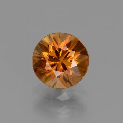 1.4ct Diamond-Cut Earth Orange Zircon Gem (ID: 438457)