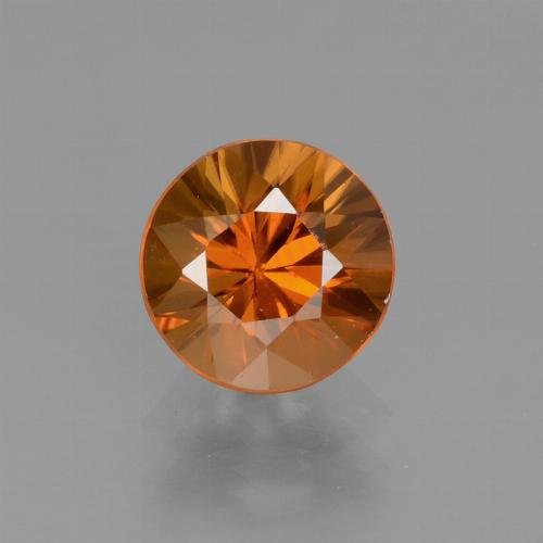 1.5ct Diamond-Cut Yellowish Orange Zircon Gem (ID: 438458)