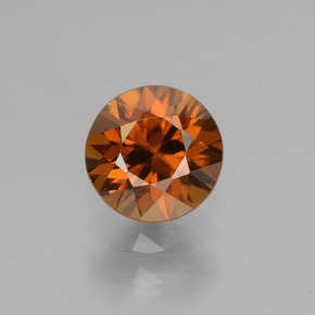 1.2ct Diamond-Cut Deep Orange Zircon Gem (ID: 438461)