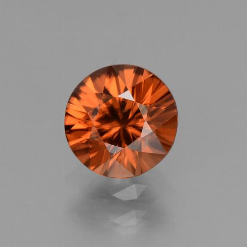 1.4ct Diamond-Cut Amber Orange Zircon Gem (ID: 438463)