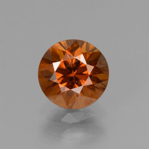 1.5ct Diamond-Cut Reddish Orange Zircon Gem (ID: 438464)