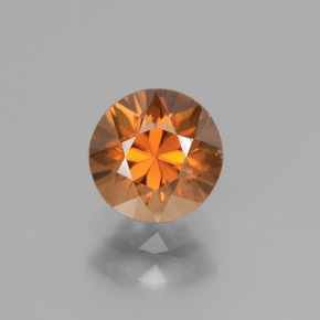 1.4ct Diamond-Cut Yellowish Orange Zircon Gem (ID: 438591)