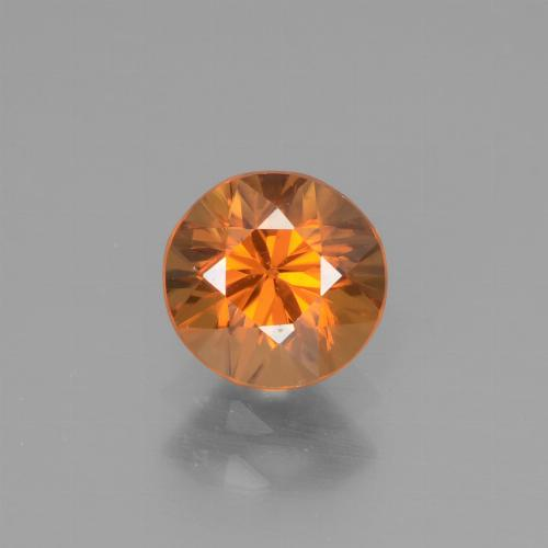 1.2ct Diamond-Cut Apricot Orange Zircon Gem (ID: 438594)