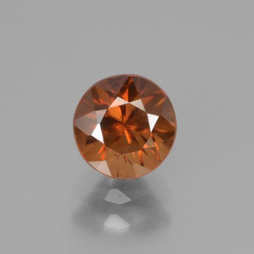 1.4ct Diamond-Cut Deep Orange Zircon Gem (ID: 438595)