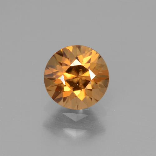 1.2ct Diamond-Cut Deep Orange Zircon Gem (ID: 438597)